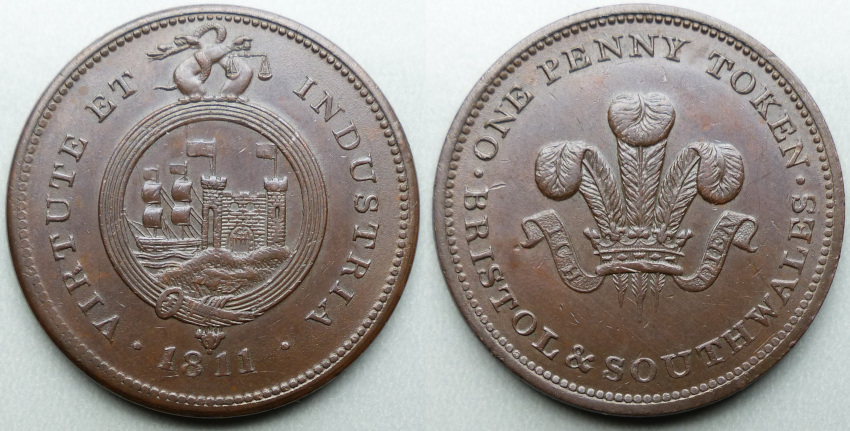 Bristol, Bristol & South Wales 1811 penny