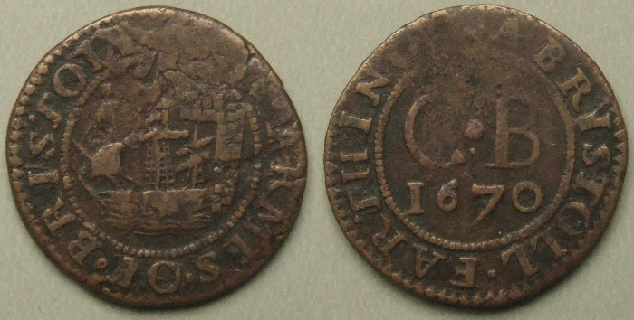 Bristol, city issue 1670 farthing N1594