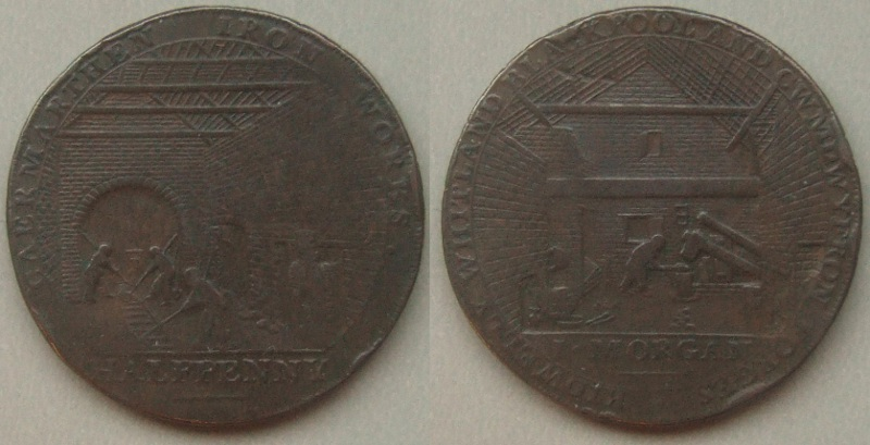 Carmarthen, Morgan Iron Works halfpenny token