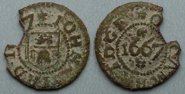 Cambridge, John Bird 1667 farthing