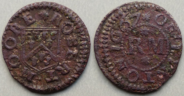 Linton, Robert Moore 1667 farthing - Click Image to Close
