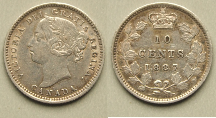 Canada 1887 10 cents