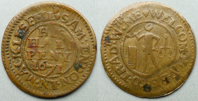 Macclesfield, Sam Endon 1671 halfpenny
