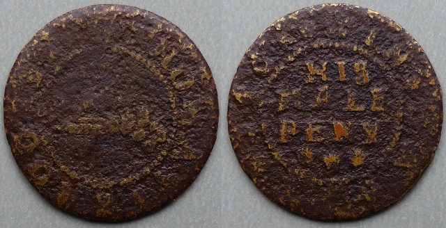 Derby, Thomas Brooks 1668 halfpenny