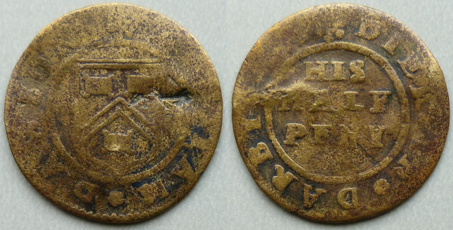 Derby, William Dawson 1669 halfpenny