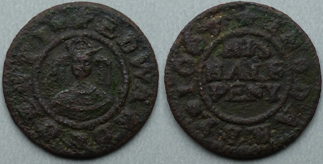 Derby, Edward Denty 1668 halfpenny