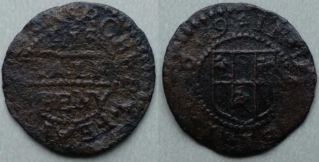 Derby, Robert Fearbrother 1669 halfpenny token