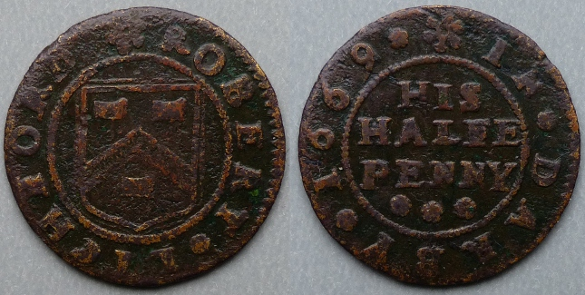 Derby, Robert Lichford 1669 halfpenny