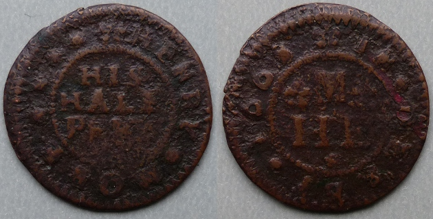 Derby, Henry More 1668 halfpenny token