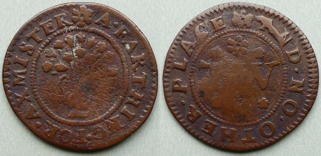 Axminster, town issue farthing token