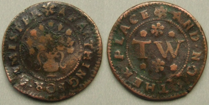 Axminster, town issue farthing