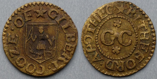 Bideford, Gilbert Cooze farthing - Click Image to Close