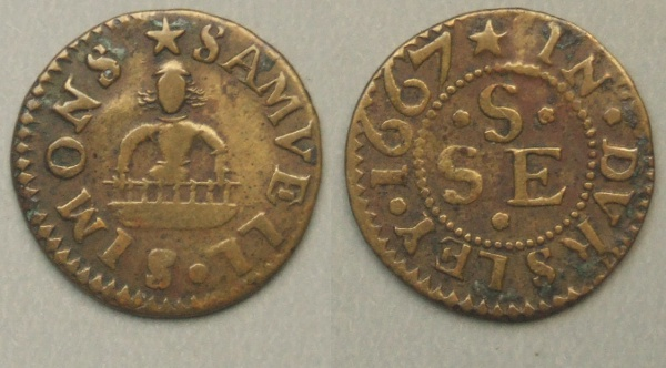 Gloucestershire, Dursley 17th century trader's farthing 1667