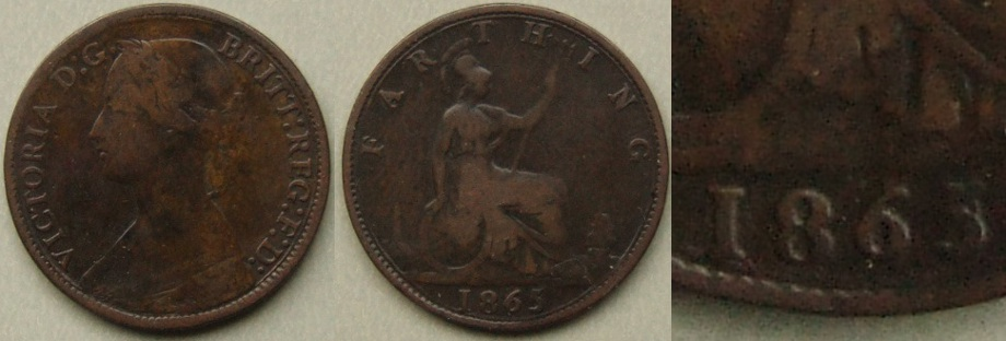 1865 5 over 2 farthing