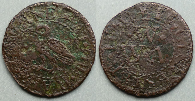 Gloucester, W W (A) AT THE RAEN TAVERNE 1650 farthing