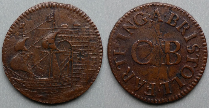Bristol, city issue 1651 farthing