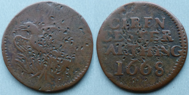 Cirencester, borough issue 1668 farthing