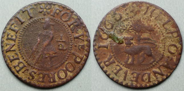 Andover, town issue 1666 halfpenny