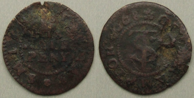 Brampton Magna, Thomas Smith halfpenny 1668