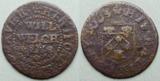 Hereford, Will Welch 1663 halfpenny