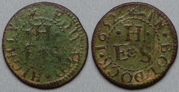 Baldock Edward Highly 1652 farthing