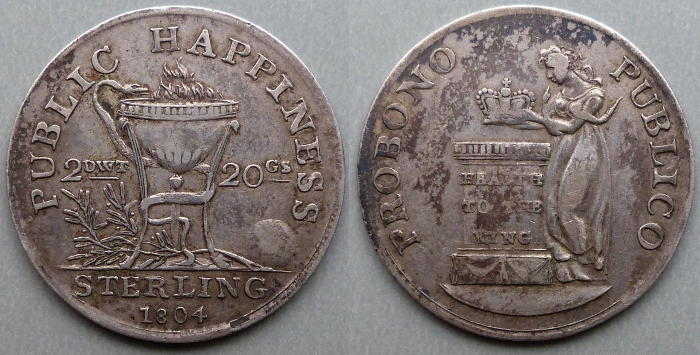 Dublin, anonymous 1804 shilling token