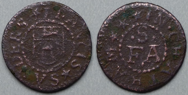 Chatham, Francis Sanders farthing token