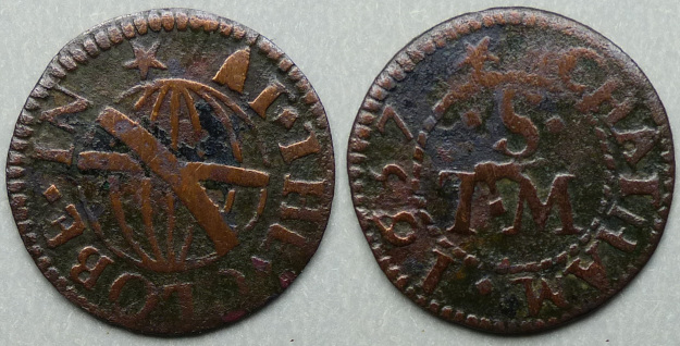 Chatham, T S (M) AT THE GLOBE 1657 farthing