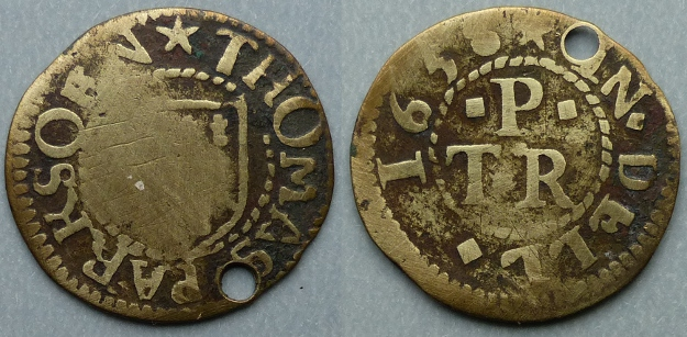 Deal, Thomas Parksoen 1658 farthing