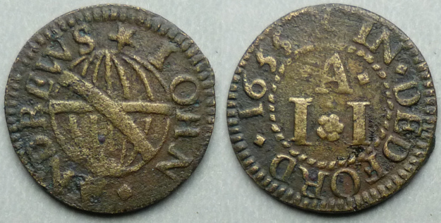 Deptford, John Andrews 1655 farthing