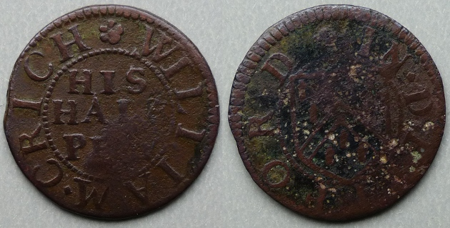 Deptford, William Crich halfpenny token