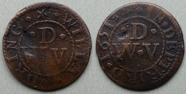 Deptford, William Dring 1651 farthing N2492