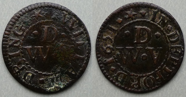 Deptford, William Dring 1651 farthing N----