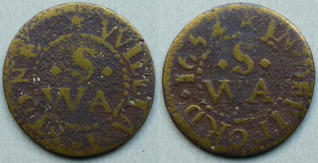 Deptford, William Stone 1652 farthing N----