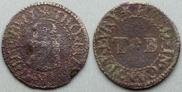 Canterbury, Tho Bullock AT THE BVLL HEAD farthing
