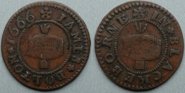 Blackburn, James Bolton 1666 farthing