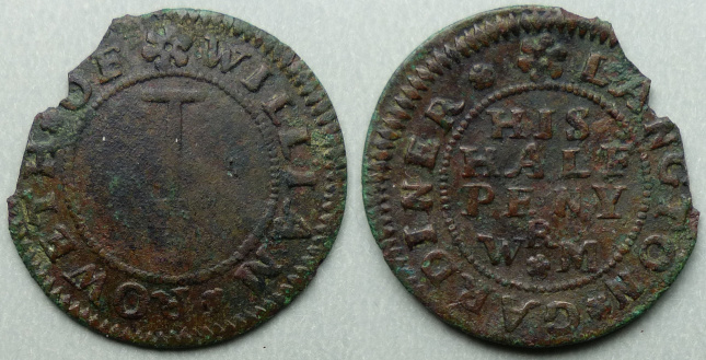 Langton by Spilsby, William Roweth halfpenny