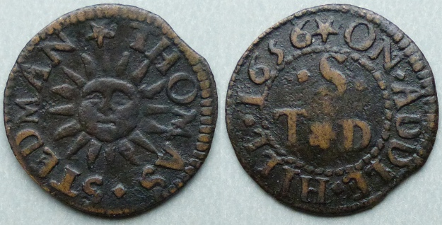 Addle Hill, Thomas Stedman 1656 farthing