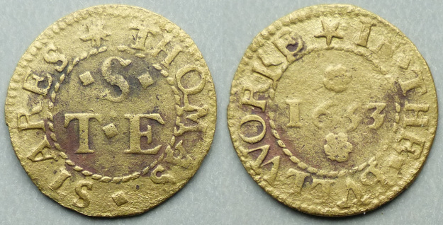 The Bulwark, Thomas Stares 1653 farthing