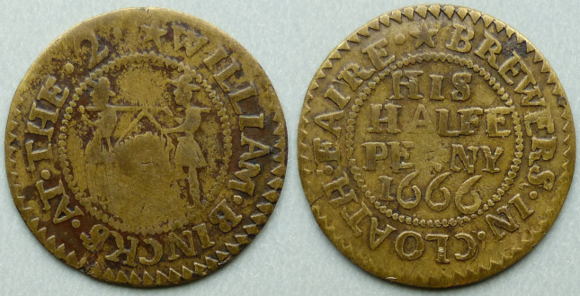 Cloth Fair, William Bincks 1666 halfpenny