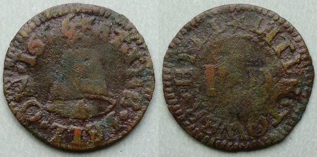 Little Tower Hill, I D AT THE BELL 1656 farthing