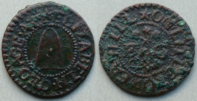 Little Tower Hill, Elizabeth Geoage farthing token