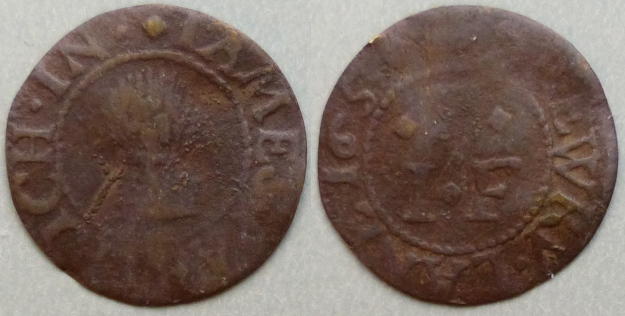 Drury Lane, James Partrich 1657 farthing