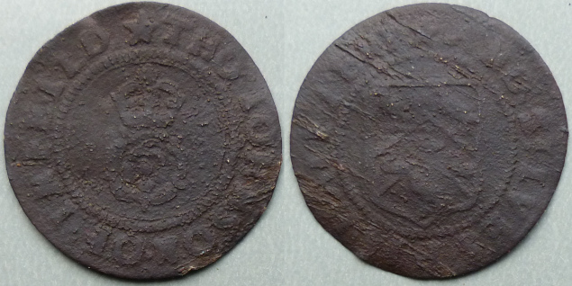 Enfield and St. Ives, Tho Johnson halfpenny token