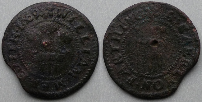 Caerleon, William Meredith 1669 farthing