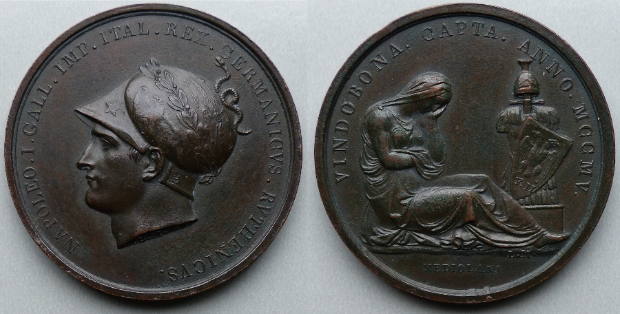 Napoleon Bonaparte capture of Vienna 1805 medal