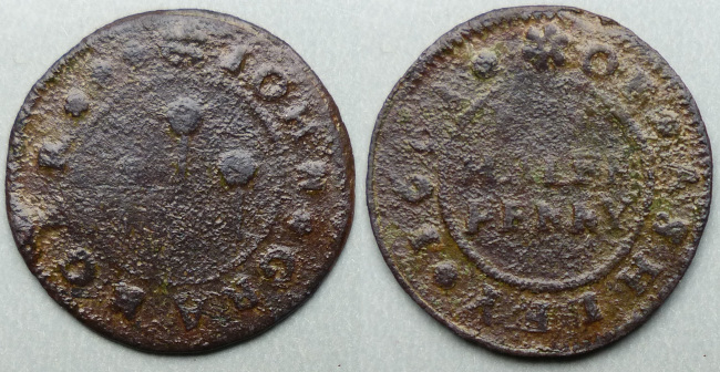 Ashley, John Granger 1668 halfpenny
