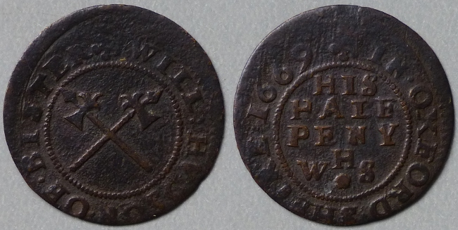 Bicester, Will Hudson 1669 halfpenny