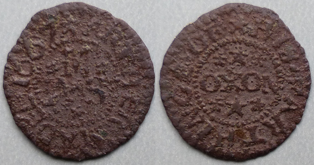 Oxford, Arther Madel 1667 farthing token