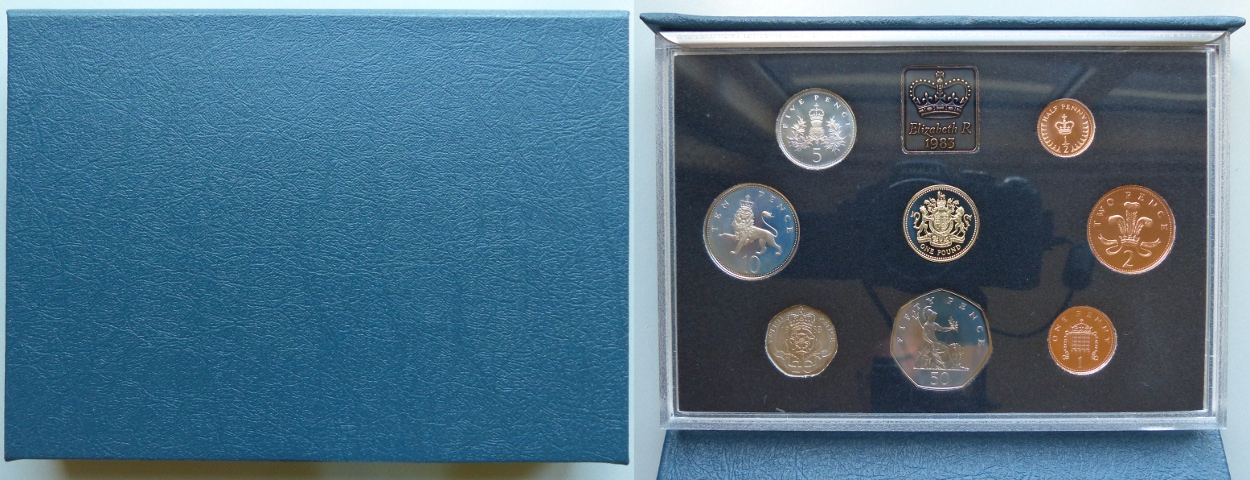1983 Proof Coin Collection, blue case